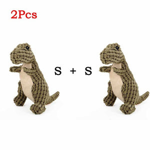Cute Animal Designs Pet Squeaker Sound Plush Toy For Dogs, S & M, 2pcs, 2 Colors