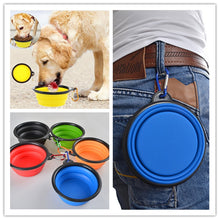 Load image into Gallery viewer, Silicone Pet Food & Water Bowl, Collapsible Travel Container, Multi-Colors