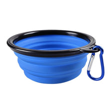 Load image into Gallery viewer, Fordable Silicone Pet Food & Water Bowl, BPA Free, Various Colors, 450ml & 1000ml