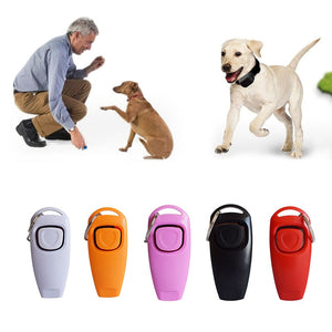 Colored Dog Training Whistle & Clicker