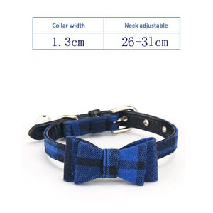Adjustable Pet Collar With Bell, Quick Release, Various Design & Colors, 1pc