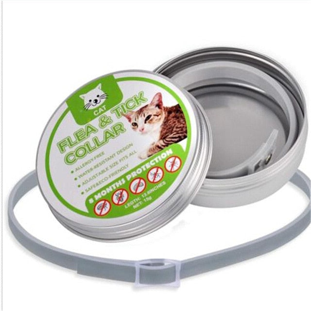 Adjustable Dogs or Cats Flea & Tick Collar, Quick Release, 8 Months Protection, 1 pc