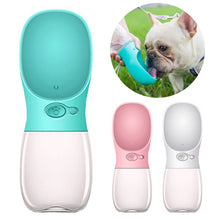 Load image into Gallery viewer, Pet Water Drinking Bottle with Bowl, S: 350ML, M:  480ML, L: 550ML, Various Color