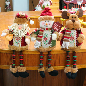Christmas Flannel Doll: Santa, Snowman, Deer