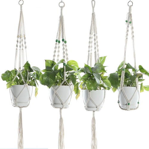 Macrame Plant Hanger, 41 Inches Long, COCO Fiber, Various Designs, 1pc
