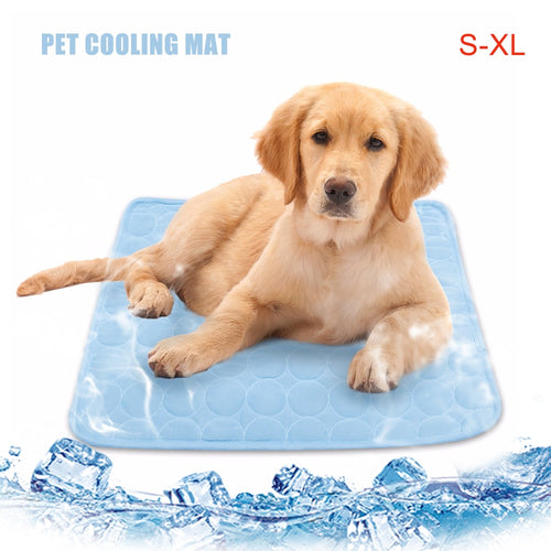Summer Pet Cooling Mattress for Small/Medium/Large Pets, S/M/L/XL, Blue, 1pc