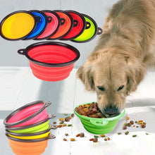 Load image into Gallery viewer, Silicone Dog Food/Water Bowl, One Size, Various Colors