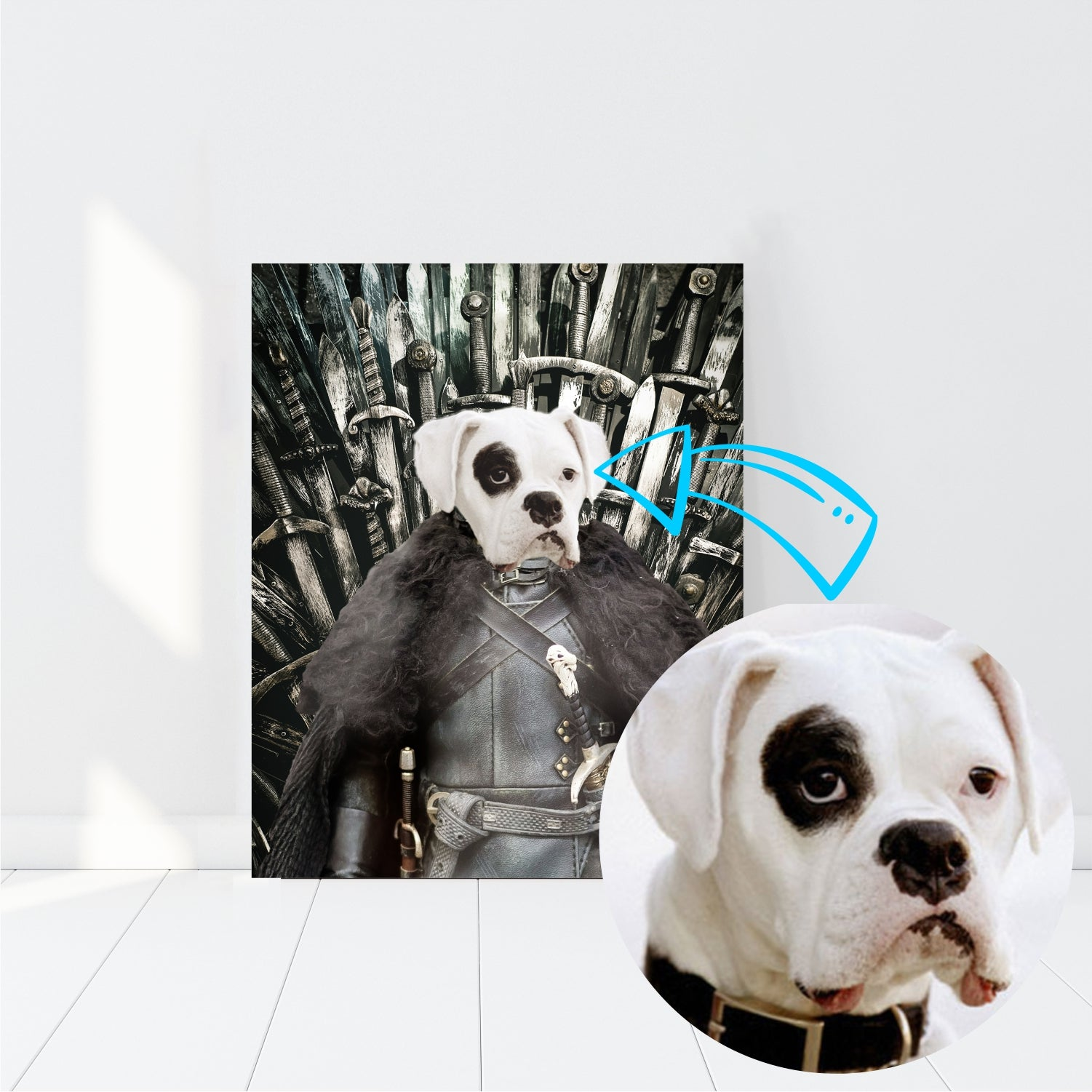 Custom Pet Canvas, Game of Thrones - Three Buddies Healthy Dog Treats