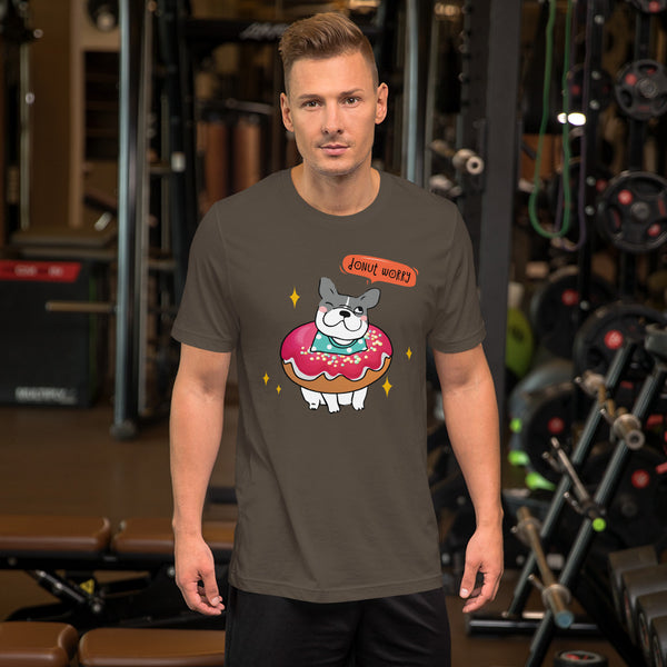 Donut Worry! Short-Sleeve Unisex T-Shirt - Three Buddies Healthy Dog Treats