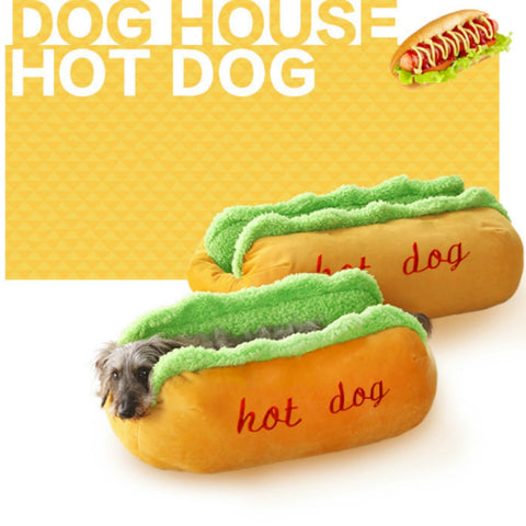 Hot Dog Beds Removable Soft Mat - Three Buddies Healthy Dog Treats