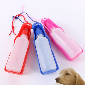 Pet Portable Water Bottle perfect - Three Buddies Healthy Dog Treats