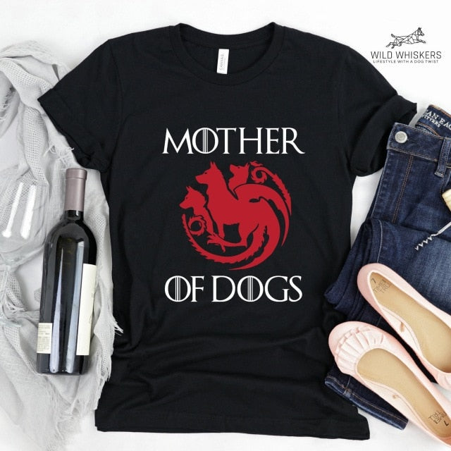 Mother of Dogs T Shirt - Three Buddies Healthy Dog Treats