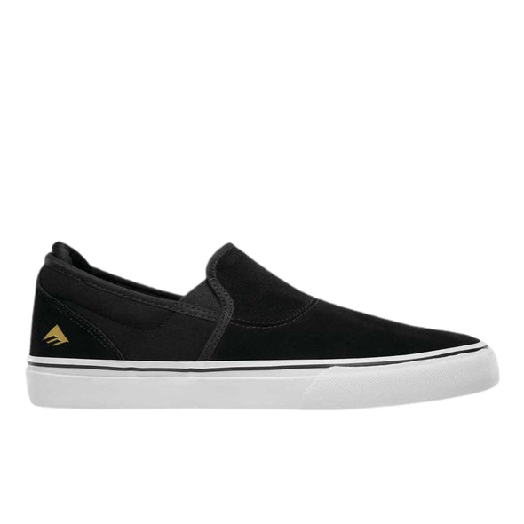 Emerica Wino G6 Youth Slip On Black Skate Shoes
