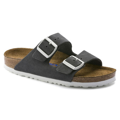 Birkenstock Arizona Gunmetal Suede Leather Sandals