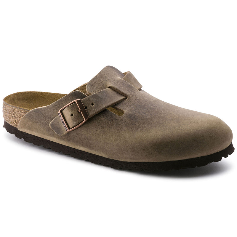 Birkenstock Boston Tabacco Brown Oiled Leather Clog