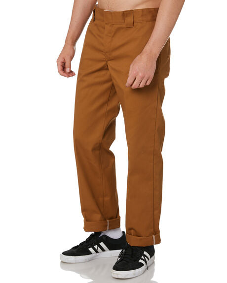 Dickies 873 Slim Straight Brown Duck Work Pants