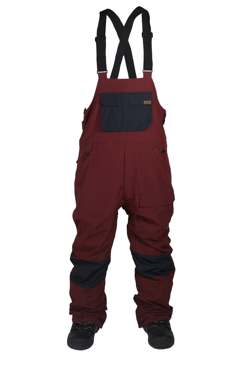 Ride Central Burgundy Bib Pant