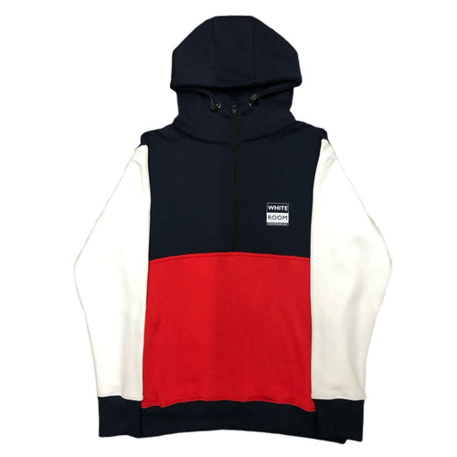 Whiteroom Anorak Hood Navy Colourblock
