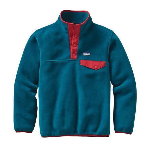 Patagonia Lightweight Synchilla Snap-T Boy's Pull Over Deep Sea Blue