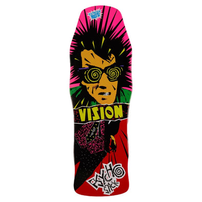 Vision Psycho Stick Re-Issue Red Skateboard Deck 10''