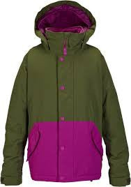 Burton Echo Snowboard Jacket Youth Girls Keef / Grapeseed