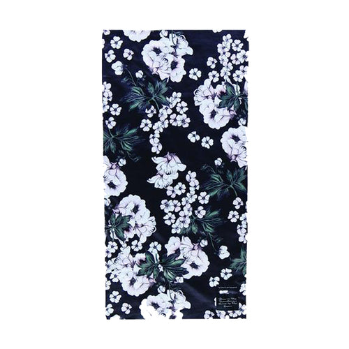 Rojo Tube Neck Warmer Neve Floral True Black