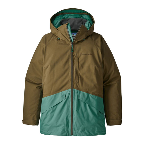 Patagonia Snowbelle Insulated Cargo Green Jacket