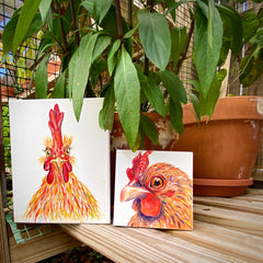 Key West Chicken Art Painting