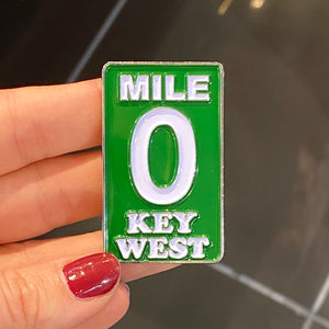 Key West Metal Mile 0 Magnet - Key West Walking Tour