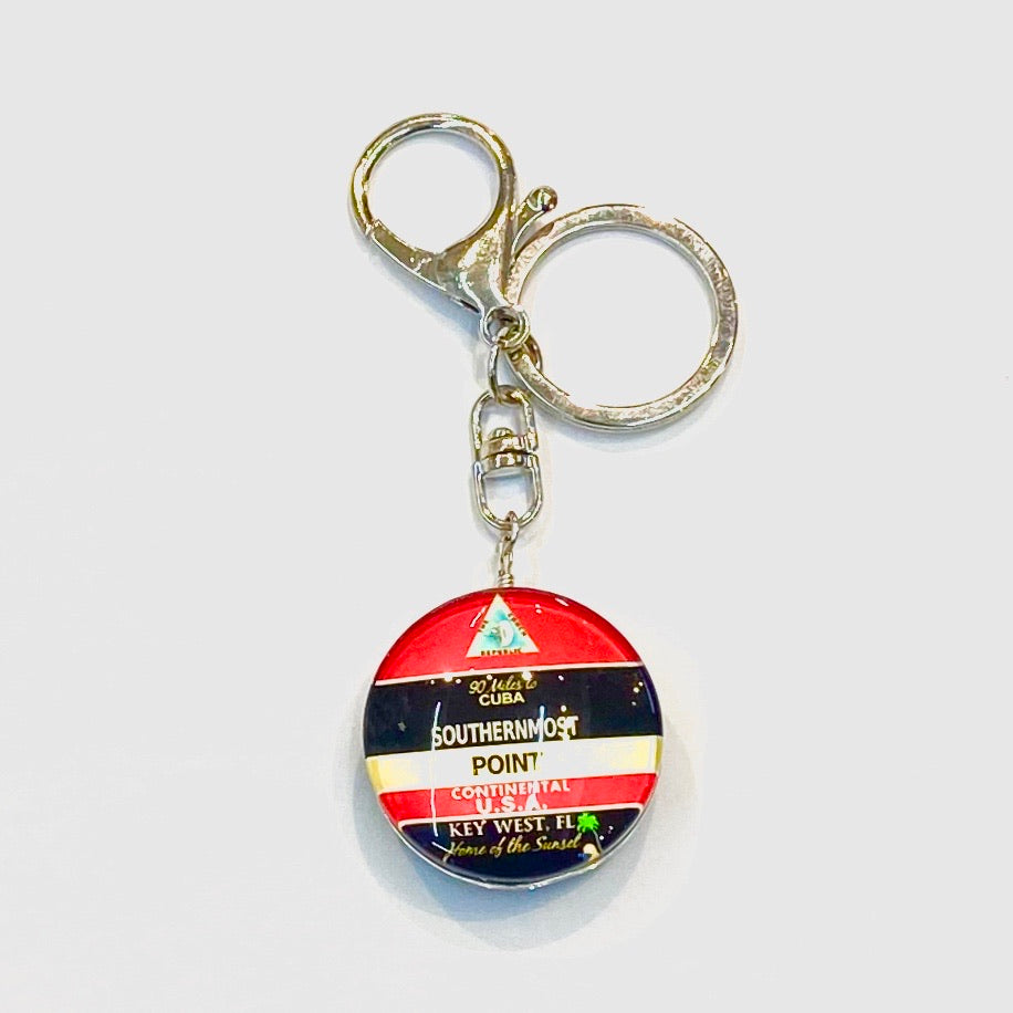 Two-Sided Key West Key Chain - Florida Keys Ventures