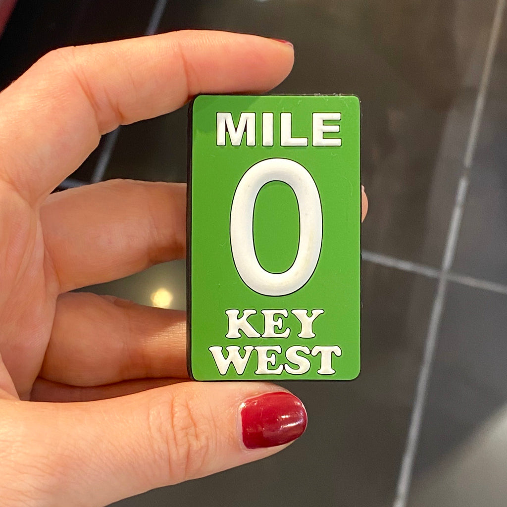Key West Rubber Mile 0 Magnet - Key West Walking Tour