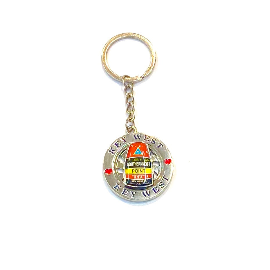 Key West Southernmost Point Buoy Key Chain - Florida Keys Ventures