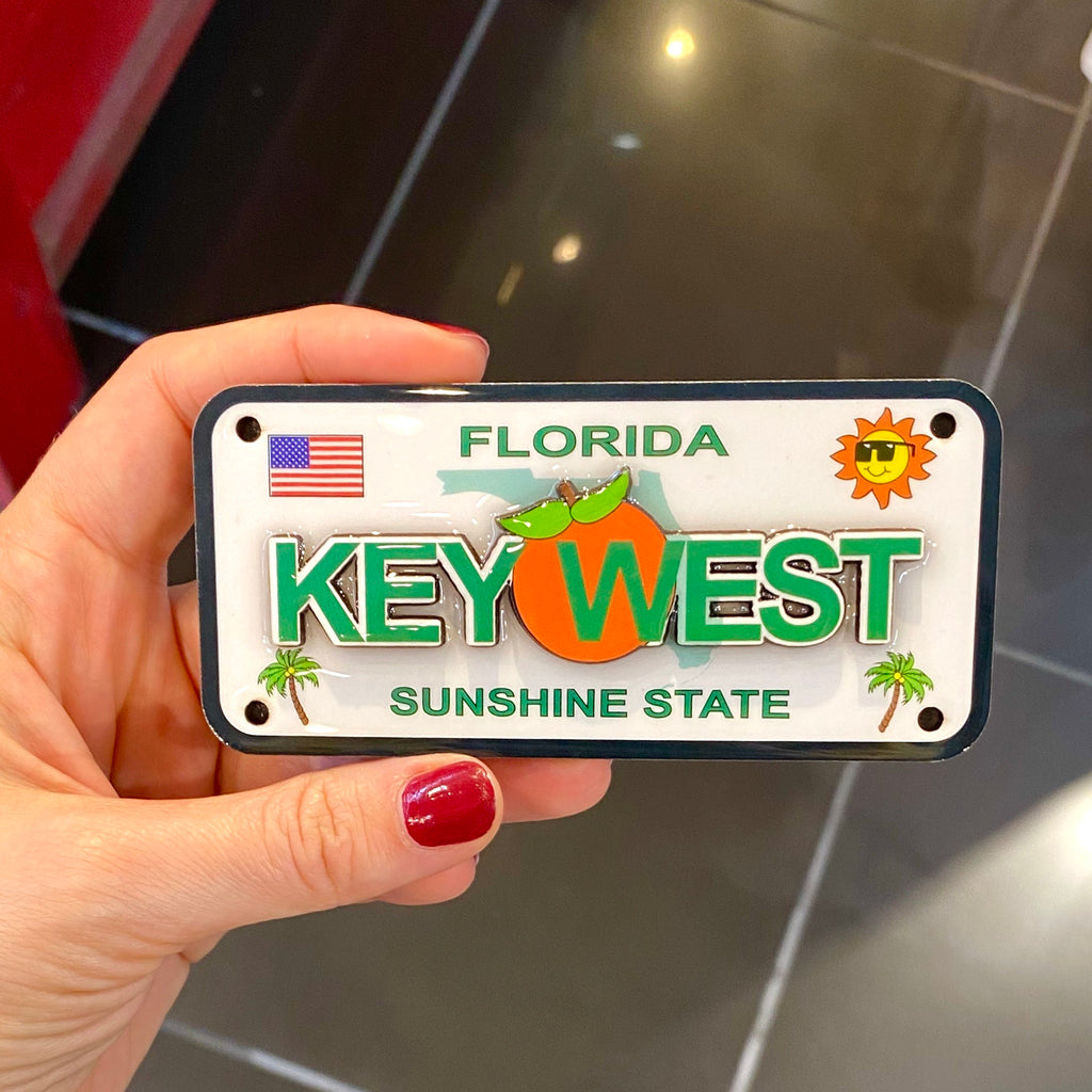 Key West License Plate Magnet - Florida Keys Ventures