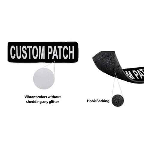 Personalized Custom Patch for side of Dog Harness