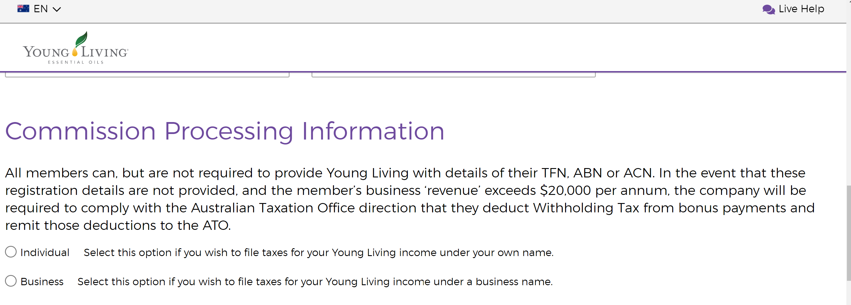 Young Living Membership Help