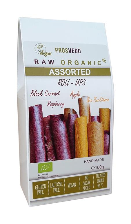 Raw Organic Assorted Fruit Roll-Ups