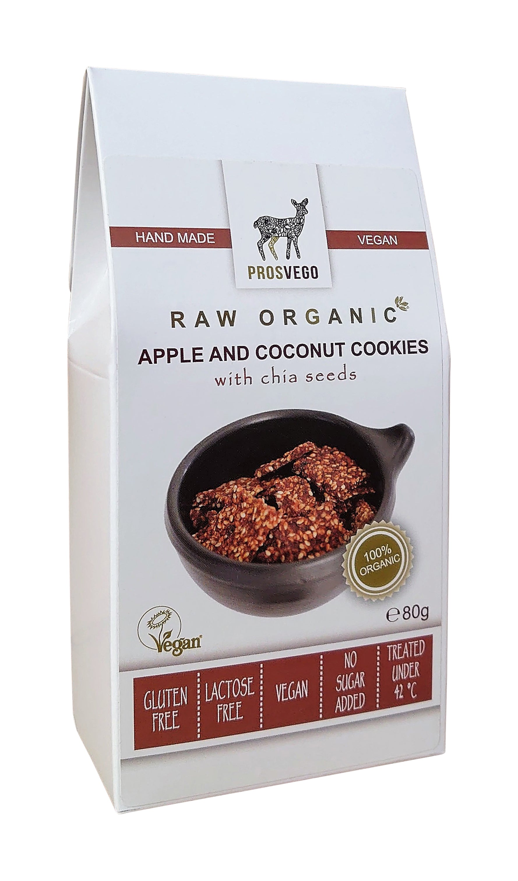 Raw Organic Apple and Coconut Cookies with chia seeds