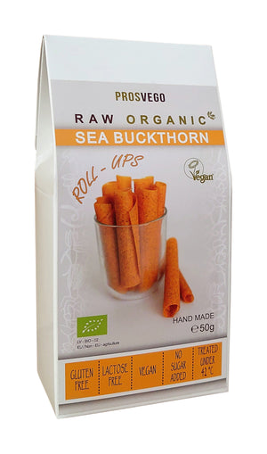 Raw Organic Sea Buckthorn Roll-Ups