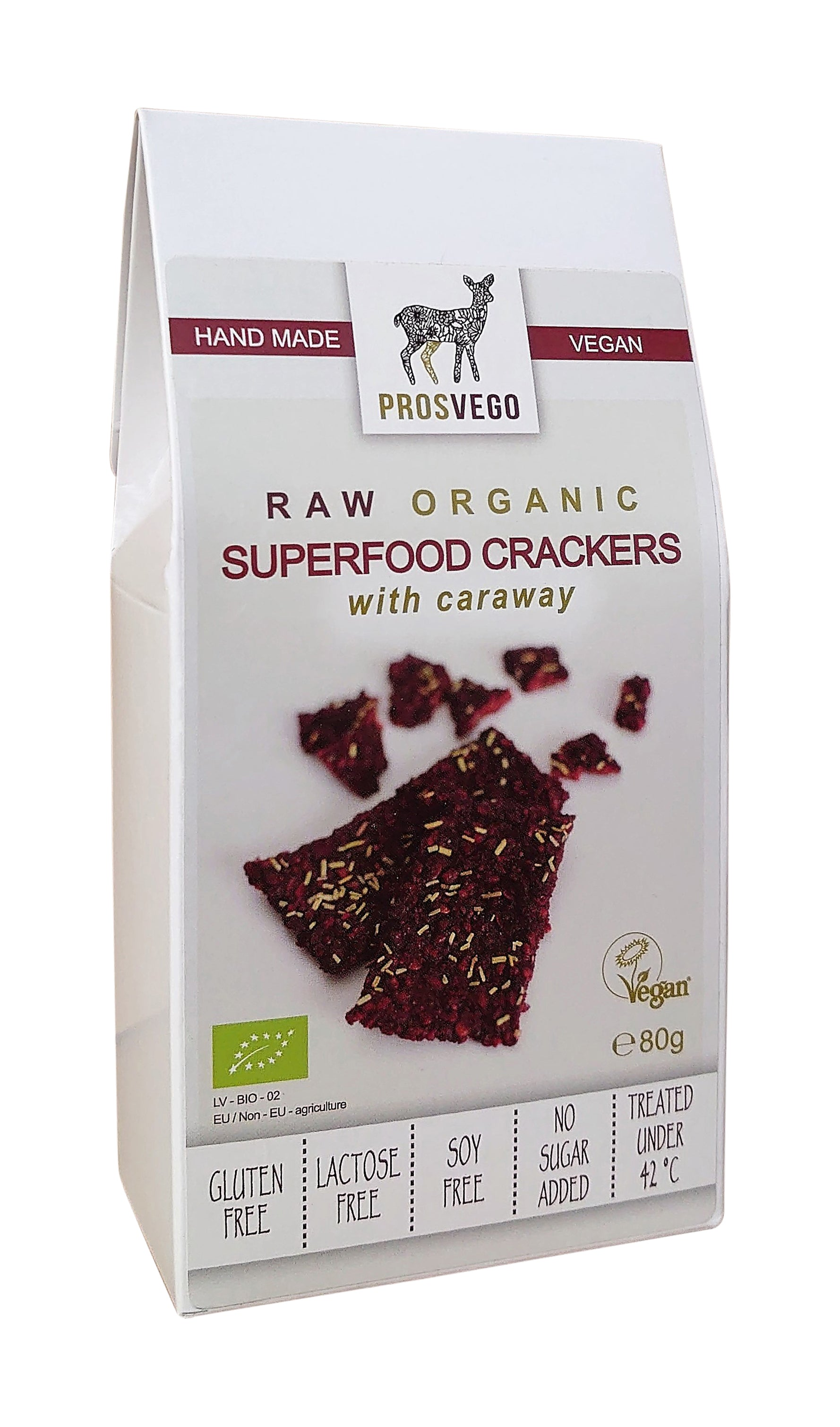 Raw Organic Superfood Crackers with Caraway