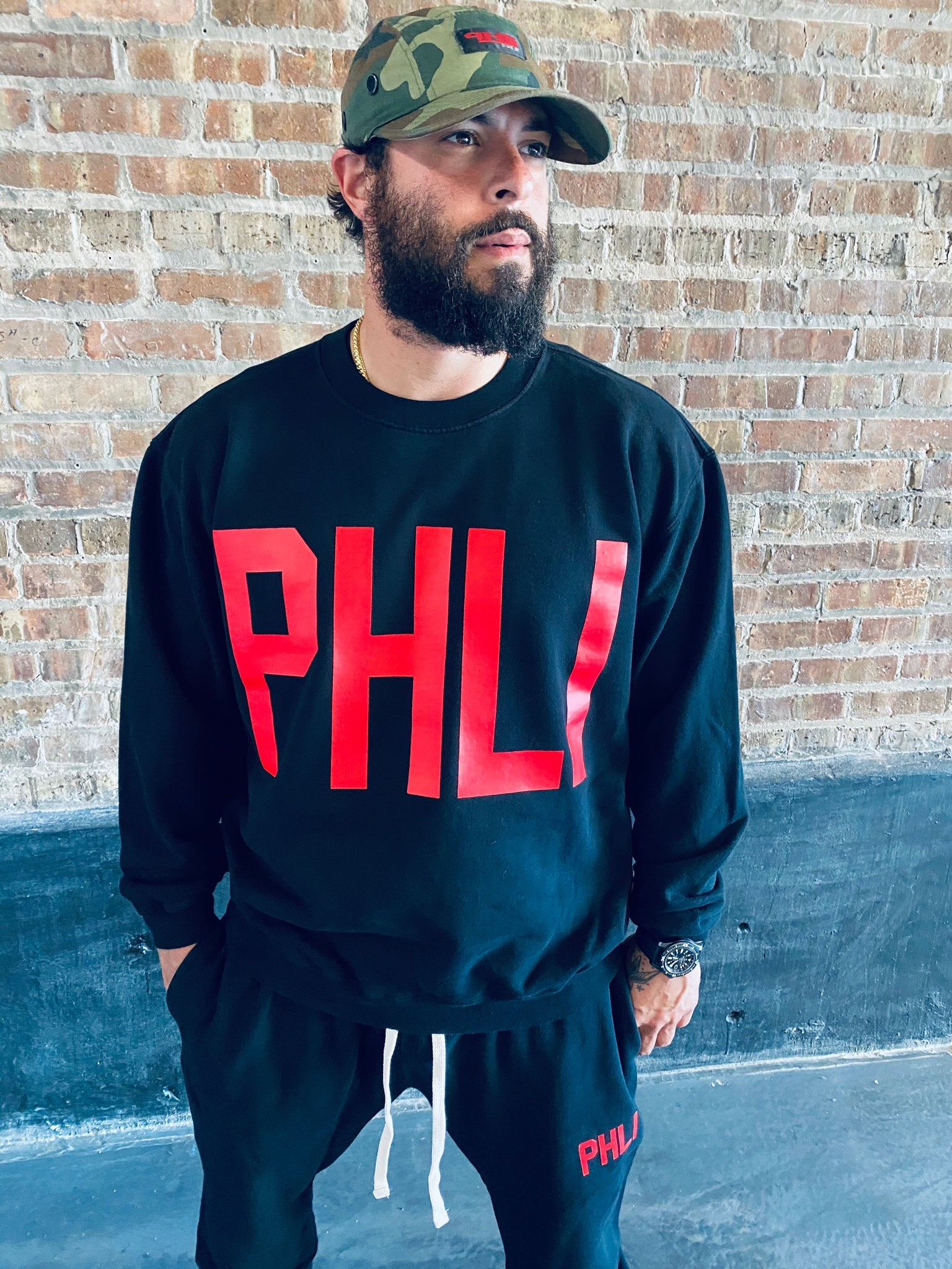 COLLEGIATE PHLI LOGO JOGGING SUIT (C&S)