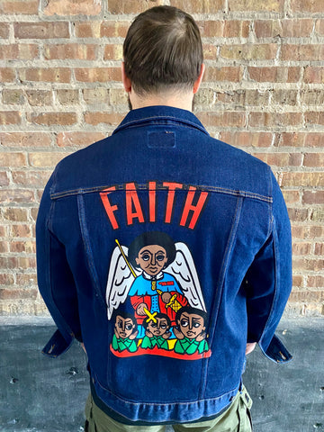 """FAITH 24/7"" Denim Jacket"
