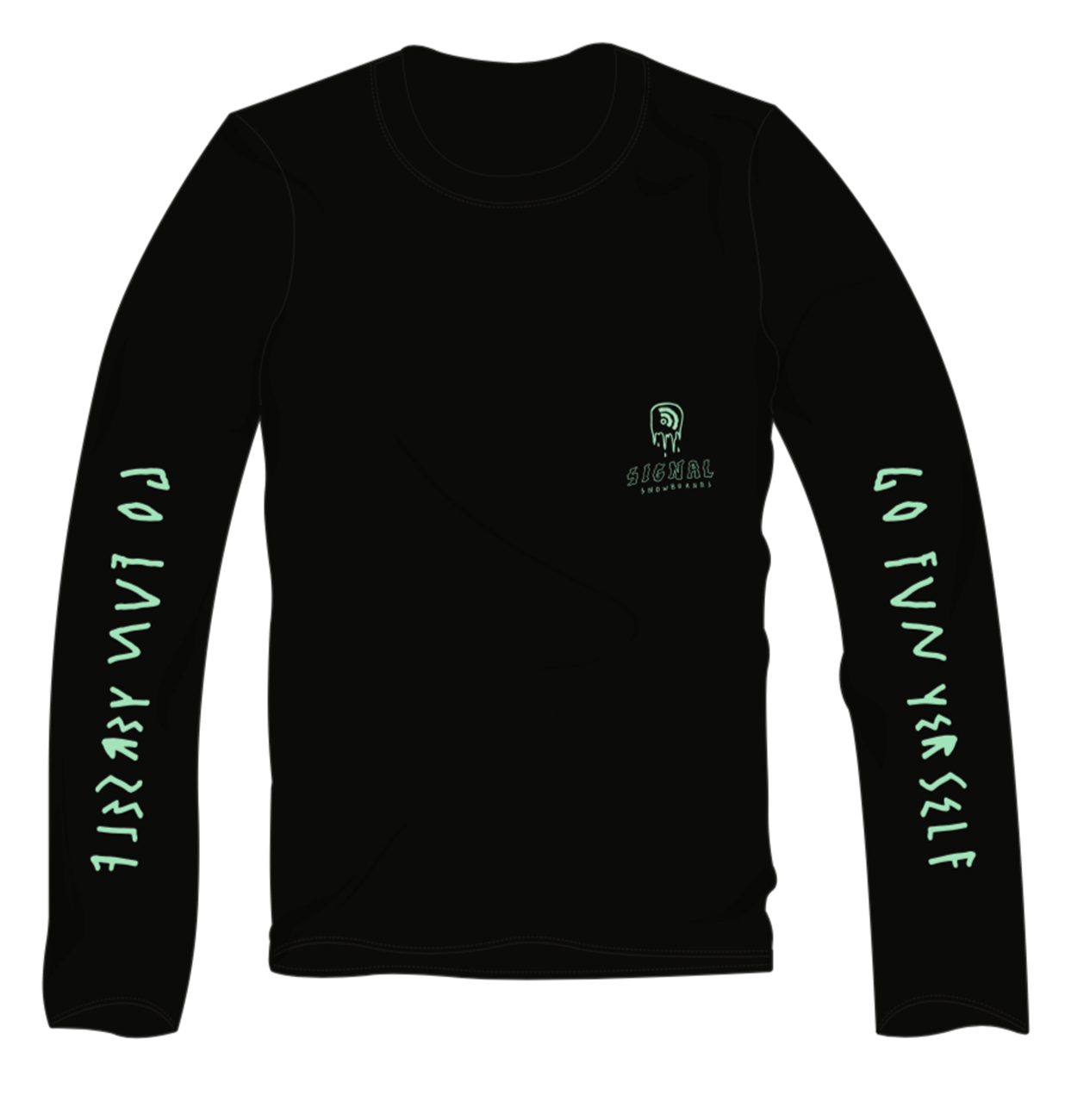 Signal long sleeve t-shirt black