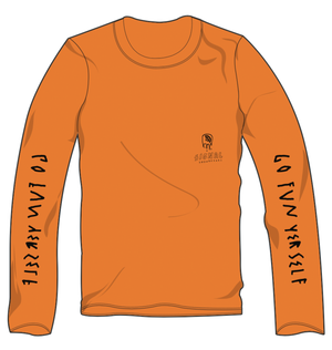 Signal long sleeve t-shirt orange