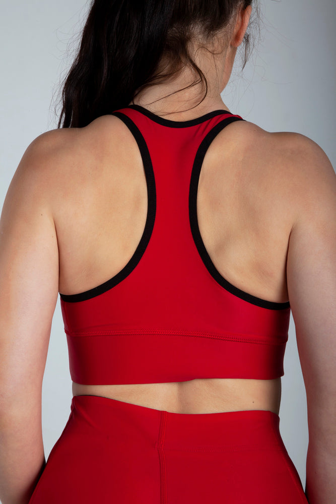 All Purpose Red Sports Bra - Origin X Performance | Sustainable Activewear