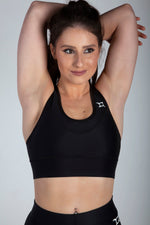 All Purpose Black Sports Bra - Origin X Performance | Sustainable Activewear