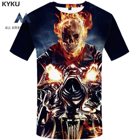 2019 Summer Skull Motorcycle T-Shirt His & Her Tees