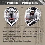 5 Colors Dot Approved Full Face Flip Up Abs Motorcycle Helmet (Modular) His & Hers Helmets