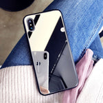 Tempered Makeup Mirror Phone Case for iPhone 8 7 6 6S Plus, X XS MAX XR Hard