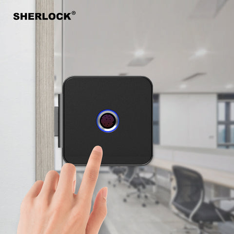 Fingerprint Smart Keyless Verification Glass Door Lock