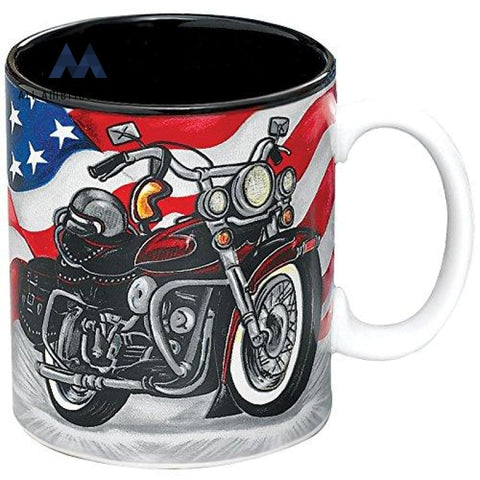 All American Motorcycle Coffee Mug/cup For Kitchen Decor/collectors Biker